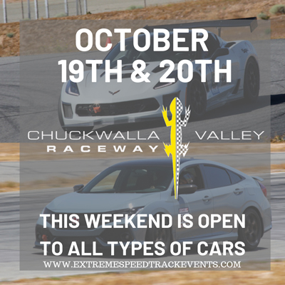 October 19 & 20, 2019, open to all car types